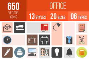 Office Icons Bundle - Overview - IconBunny