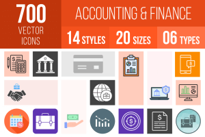 Accounting and Finance Icons Bundle